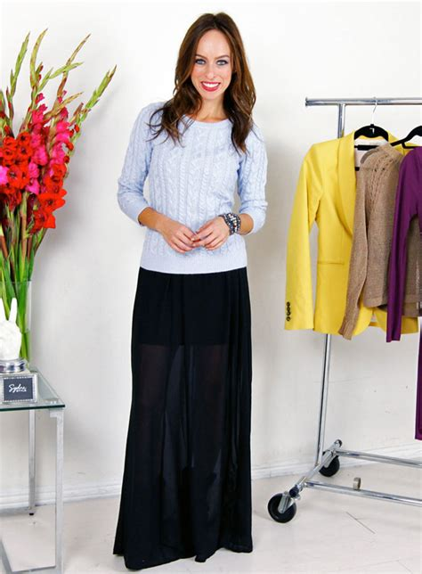A Z Trend Guide: Knits & Maxi Skirts Sydne Style