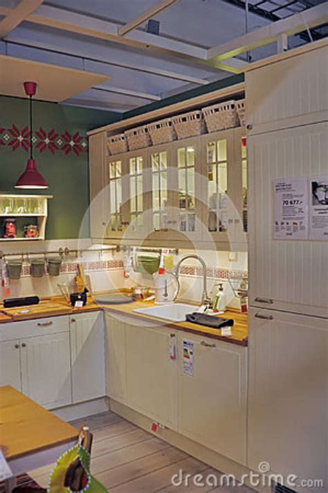 kitchen furniture stores kitchen in furniture store ikea editorial image cartoondealer 38105260