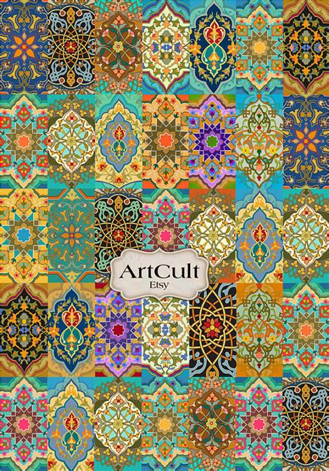 Free Craft Papers To Print - patchwork rug digital collage sheet printable by