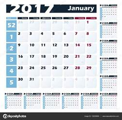plantilla de dise 241 o de vector de calendario 2017 la