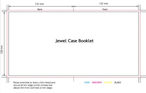 cd jewel case booklet dimensions crafts