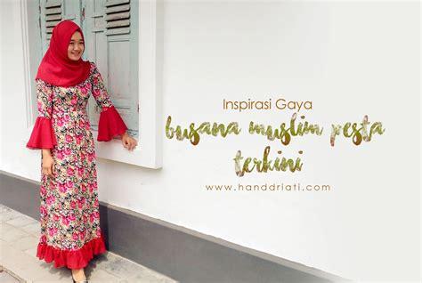 inspirasi gaya busana muslim pesta terkini  taste