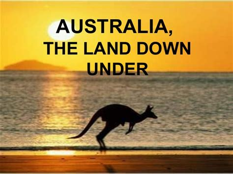 down under australia the land down under