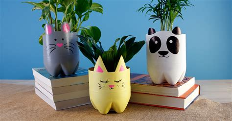 soda bottle animal planters diy projects