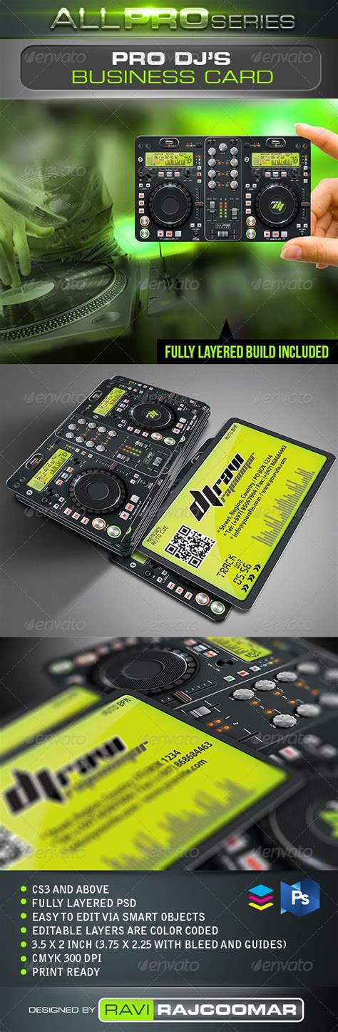 trifol business card template prodpi 17 best ideas about dj business cards on