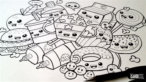 doodle free time drawing food easy and kawaii graffiti by garbi kw
