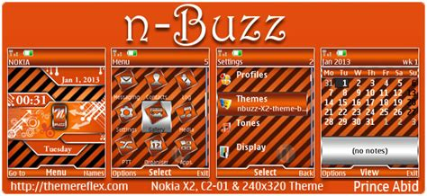 themes nokia x2 01 by princeabid n buzz theme for nokia x2 00 c2 01 x2 05 2700 240 215 320