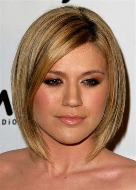 a line bob hairstyles for round faces top 100 hairstyles for round faces herinterest com