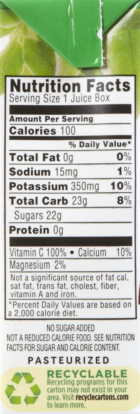 Apple Juice Aufkleber by Minute Maid Apple Juice Nutrition Label Www Pixshark