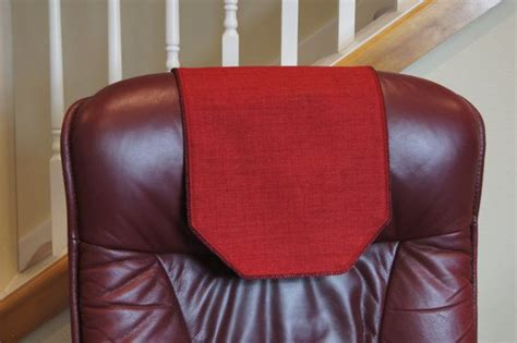 recliner chair headrest covers recliner chair headrest cover rusty red upholstery by