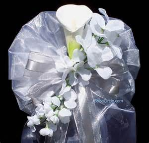 pew bows wedding pew bow with calla and cascading flowers