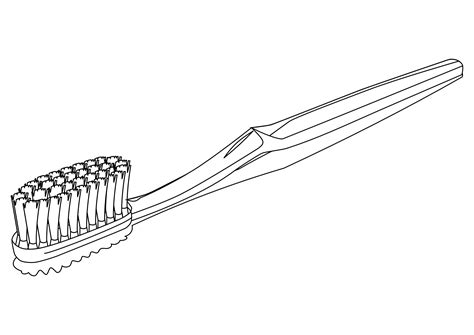 Free Coloring Pages Of Brush Toothbrush Coloring Page
