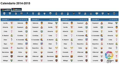 Calendario Liga Bbva Conoce El Calendario De La Liga Bbva 2014 15 Noticias