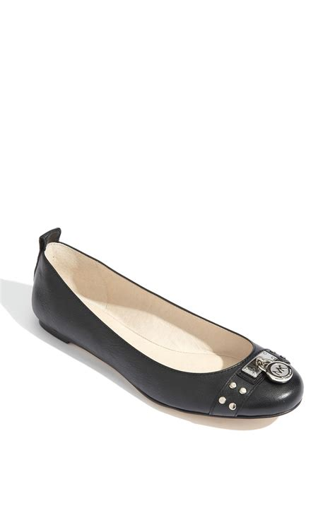 mk shoes flats michael michael kors hamilton studded ballet flat in black