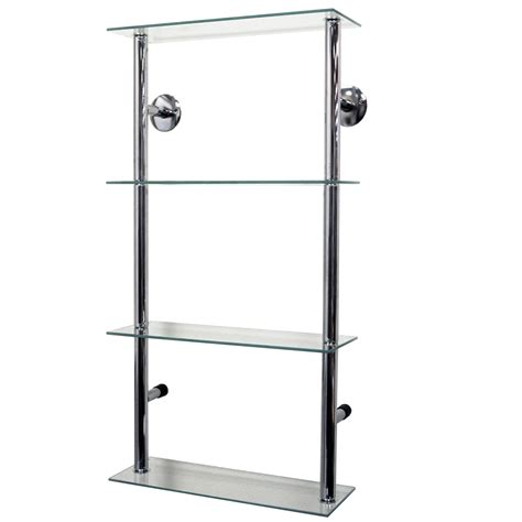 clear shelves for wall maxwell wall mounted 4 tier glass 90 cd 60 dvd storage