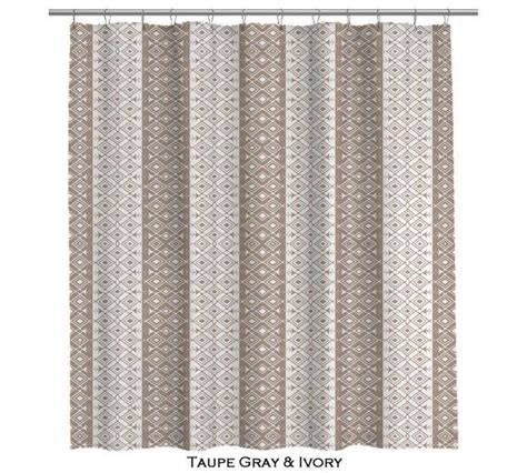 gray moroccan curtains moroccan taupe gray and ivory shower curtain 107