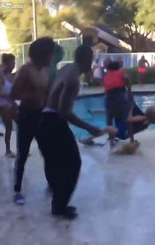 Slams The Elderly by Elderly Is Slammed And Hurled Into Pool