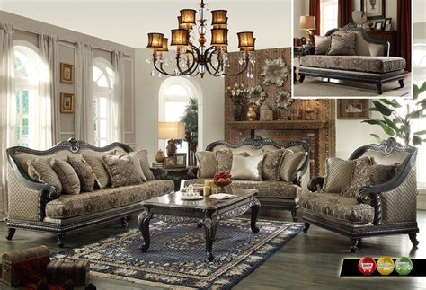 Living Room Furniture Traditional Style Traditional European Design Formal Living Room Luxury Sofa Set Wood Frames Ebay