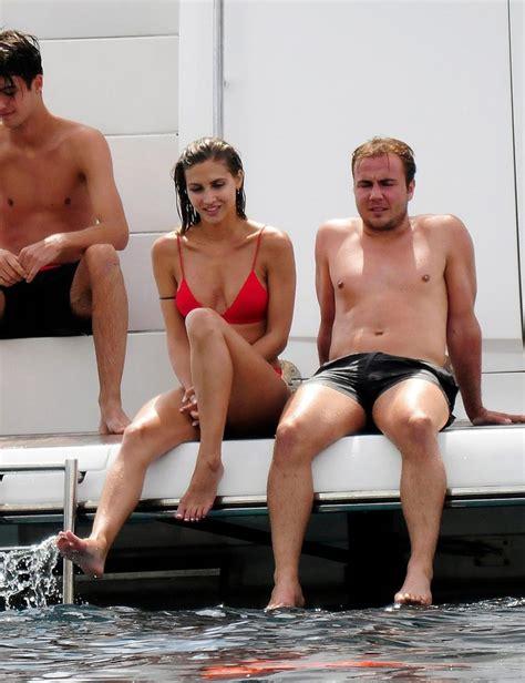 mario gotze boat mario gotze and stunning girlfriend ann kathrin relax on a