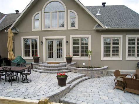 raised patio small  garden  house backyard