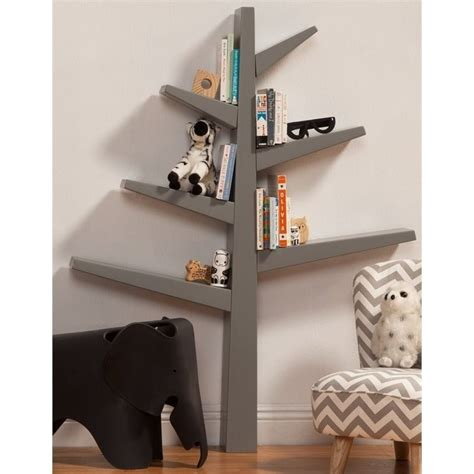 babyletto tree bookcase white babyletto spruce tree bookcase in gray m4626g