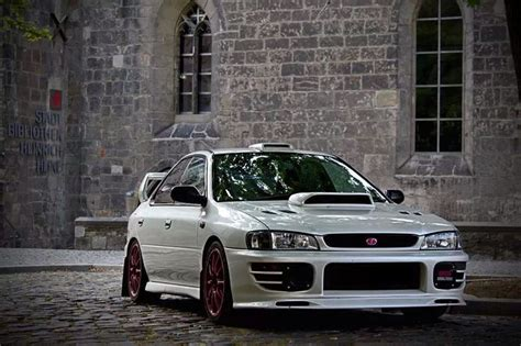 subaru gc8 white subaru impreza gc8 on wheels pinterest subaru