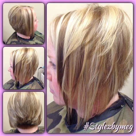 shorter hair styles that swing short haircut with fun thick highlights and lowlights for