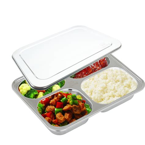sectioned lunch container aliexpress com buy 4 compartment food container with lid