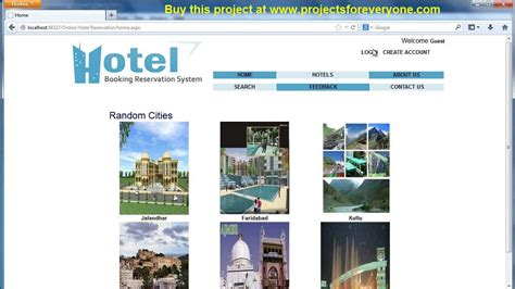hotel reservation website project in asp net with