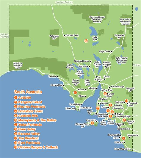 south map south australia region map map of australia region political