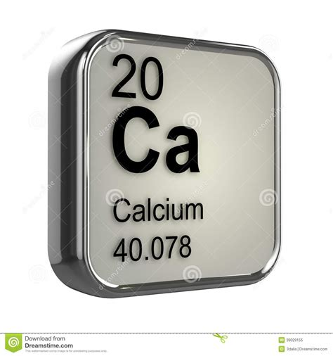Calcium On Periodic Table by 3d Calcium Element Stock Illustration Image 39029155