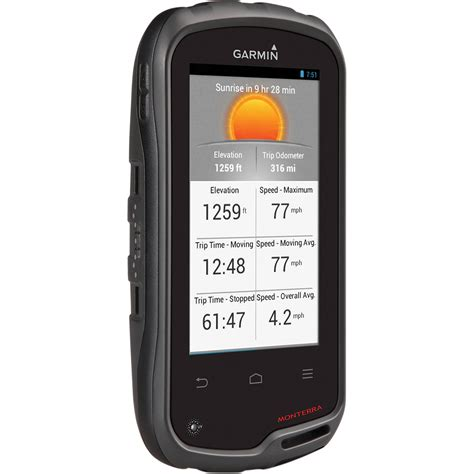 gps for android garmin monterra handheld gps with android os 010 01065 00 b h