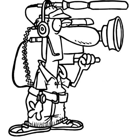free coloring pages of video camera