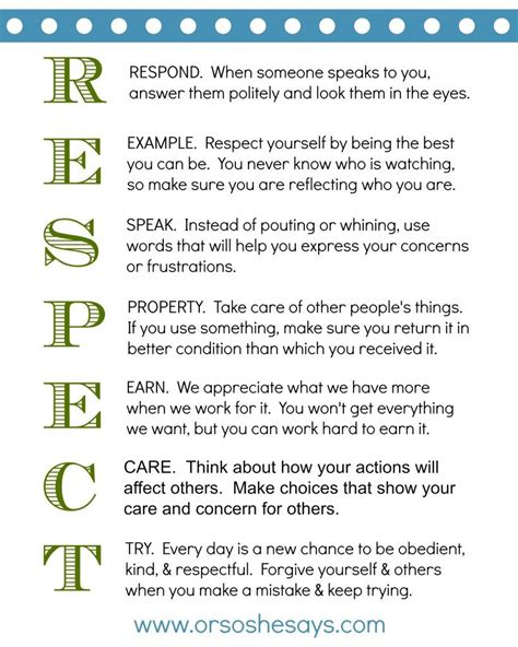 printable respect quotes family night teach them some respect respect