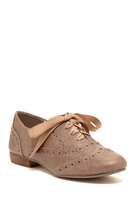 restricted oxford shoes restricted ringo wingtip oxford in brown for lyst