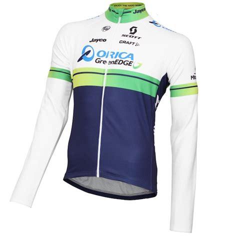 Jersey Greenedge 2015 orica greenedge sleeve jersey and bib set