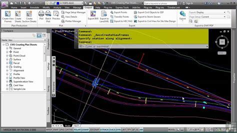 templates autocad civil 3d autocad civil 3d tutorial creating plan sheets