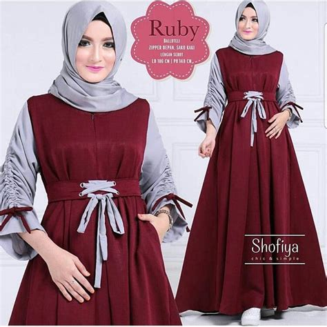 Ruby By Shofiya By Ayraa Fashion jual gamis ruby dress di lapak adzkira shop lavender13
