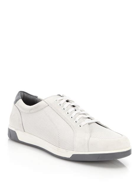 all white oxford shoes lyst cole haan vartan sport leather suede sneakers in