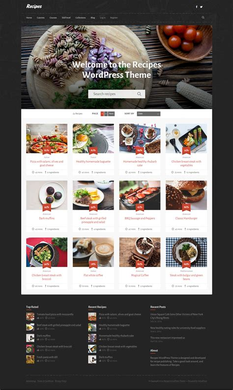 themes wordpress recipes 5 best responsive wordpress cooking and recipes themes in