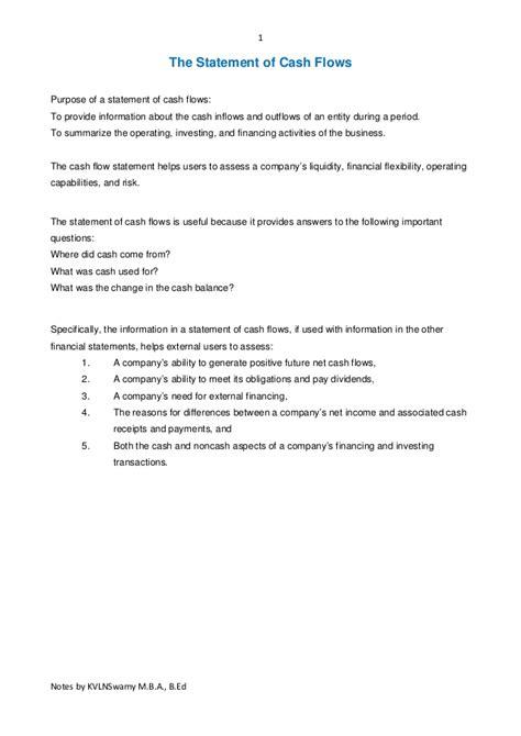 sle cash flow beauty salon sle cash flow statement questions cash flow statements