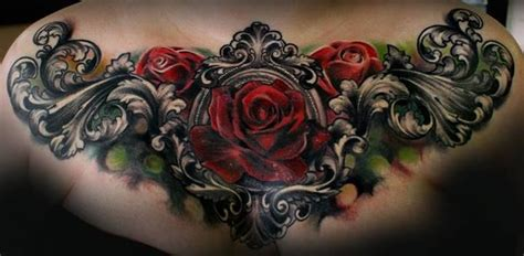 gothic rose tattoos style gunsmoke and knitting