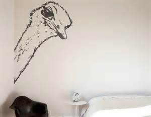 ostrich wall sticker contemporary wall stickers