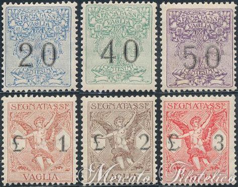 vaglia d italia segnatasse vaglia francobolli gomma integra regno d italia