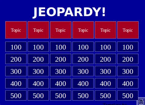 jeopardy printable template 15 jeopardy powerpoint templates free sle exle