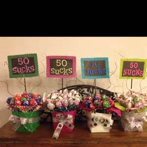 centerpieces for 50th birthday ideas