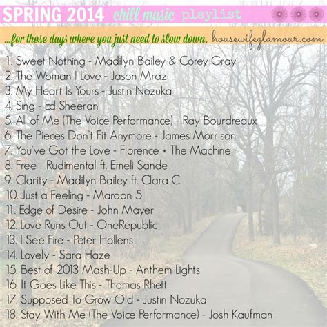 slow songs 2014 spring 2014 chill music playlist life in leggings