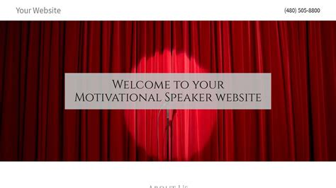 Motivational Speaker Website Templates Godaddy Speaker Website Templates