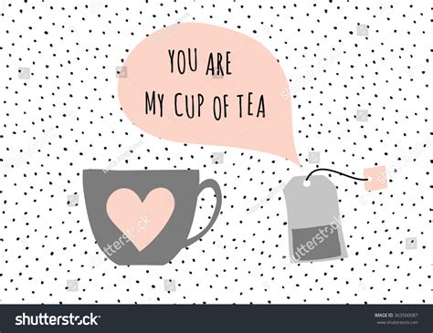 tea bag card template and modern st s day greeting card template