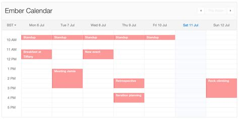 package ember calendar